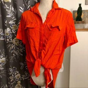 PORRIDGE Anthropologie Button-Down T Shirt